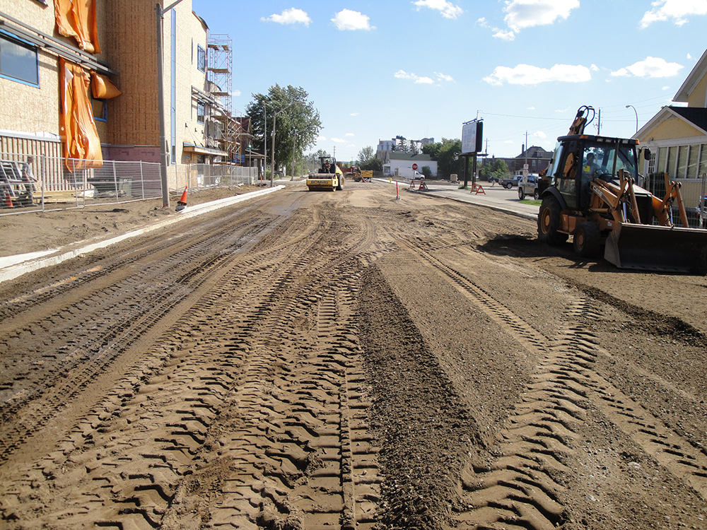 Prime Terra Group Road Construction at Brodie Steet Thunder Bay