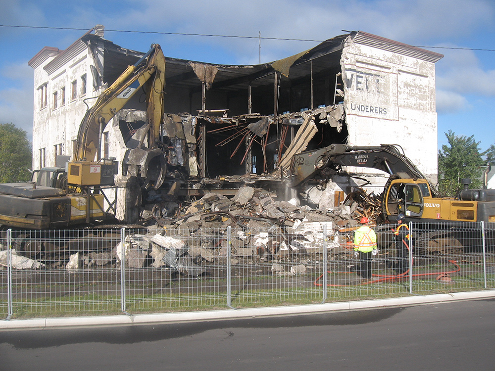 Prime Terra Group demolition of Dresswell building