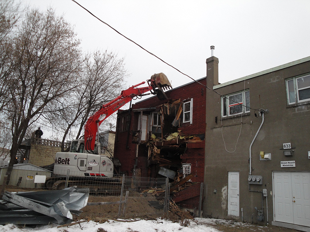 Demolition on Simpson Street, Thunder Bay by Prime Terra Group